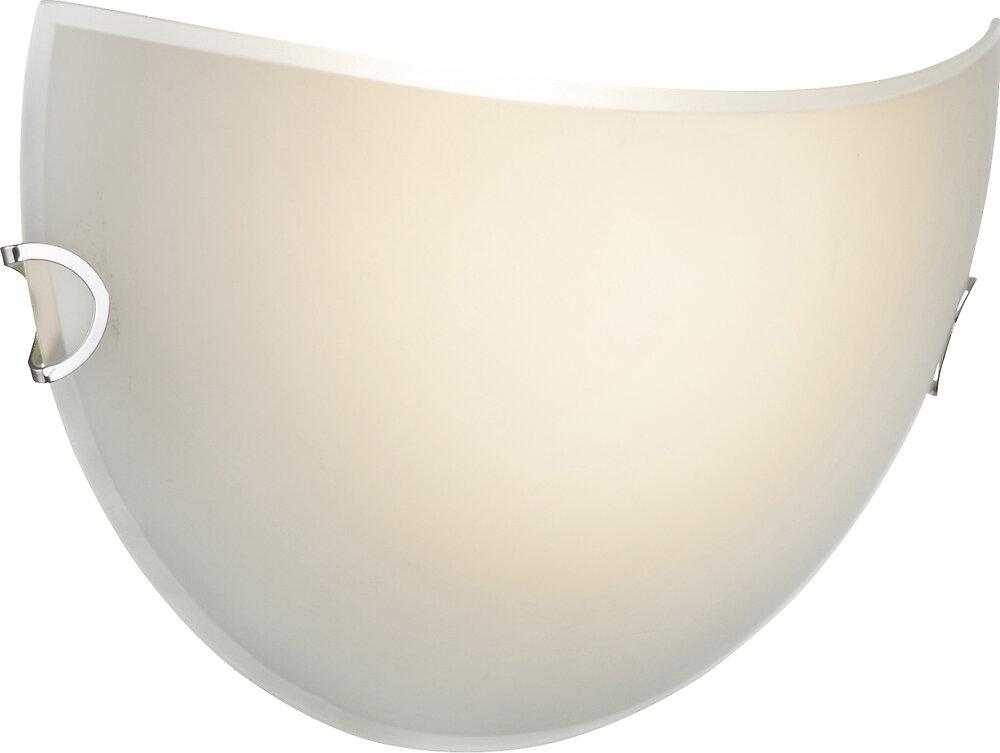 Applique Porak métal blanc verre satiné l.30xh.16cm
