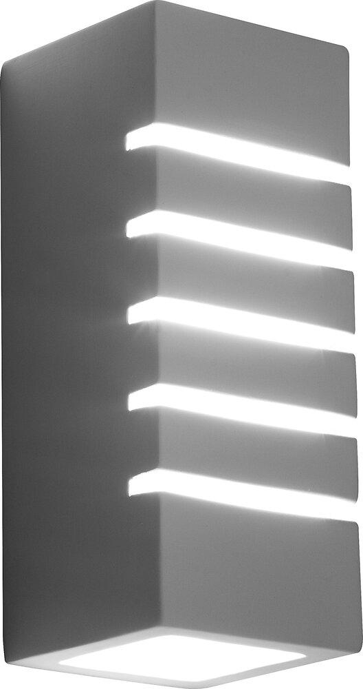 Applique Junipus céramique blanc verre l.10.5xh.25cm