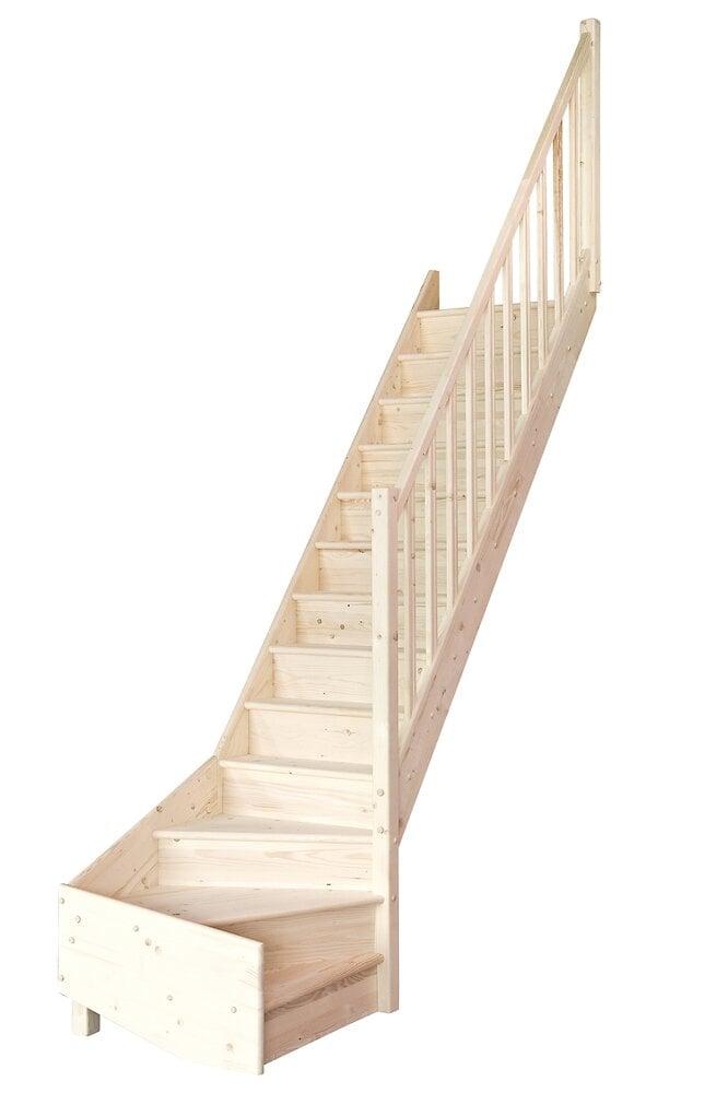 Escalier TRADI ECO SAPIN 1/4 tournant droit