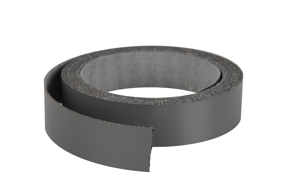 Chant mélaminé thermocollant 23mmx5ml gris anthracite