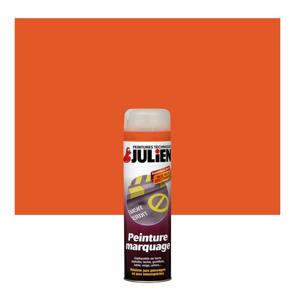 Peinture MARQUAGE SATIN Orange Fluo aérosol 500ml