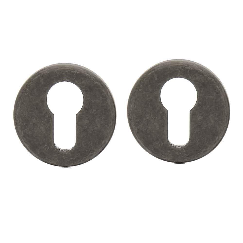 2 rosaces cylindre acier patine pour modèle Mauriac