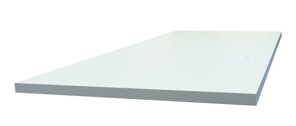 Tablette 4 chants mélaminé Blanc 1200x600x18m