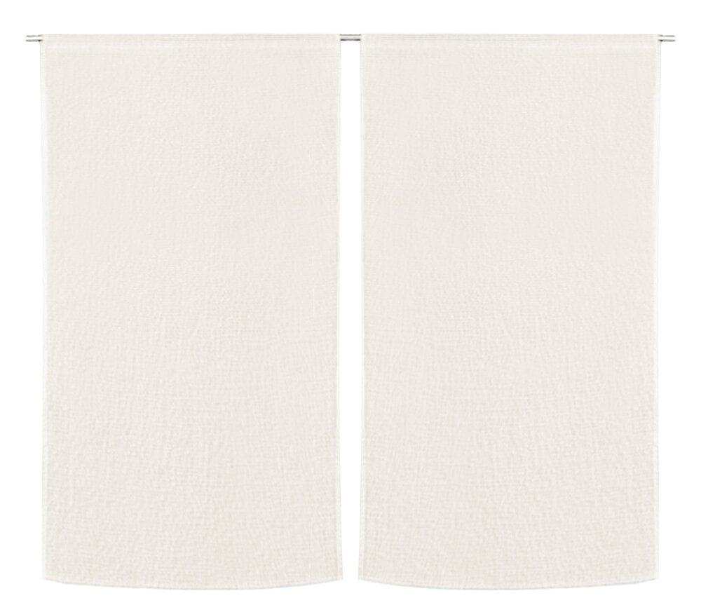 Paire de vitrage effet coton blanc 60x120cm