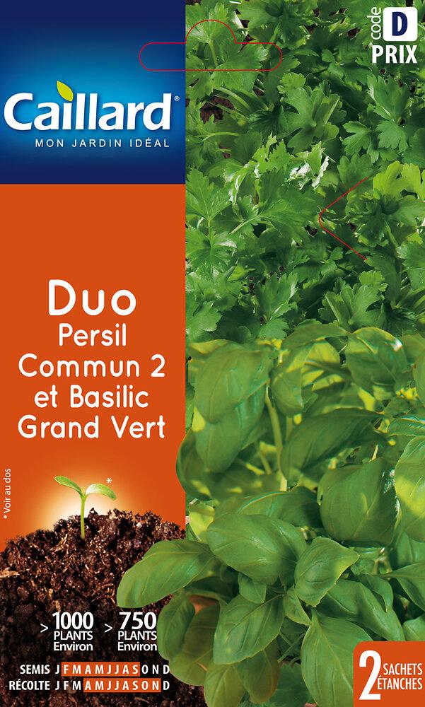 Duo d'aromatiques basilic /persil