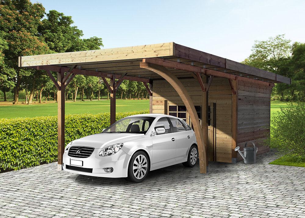 Carport en bois+Abri en bois  406X706