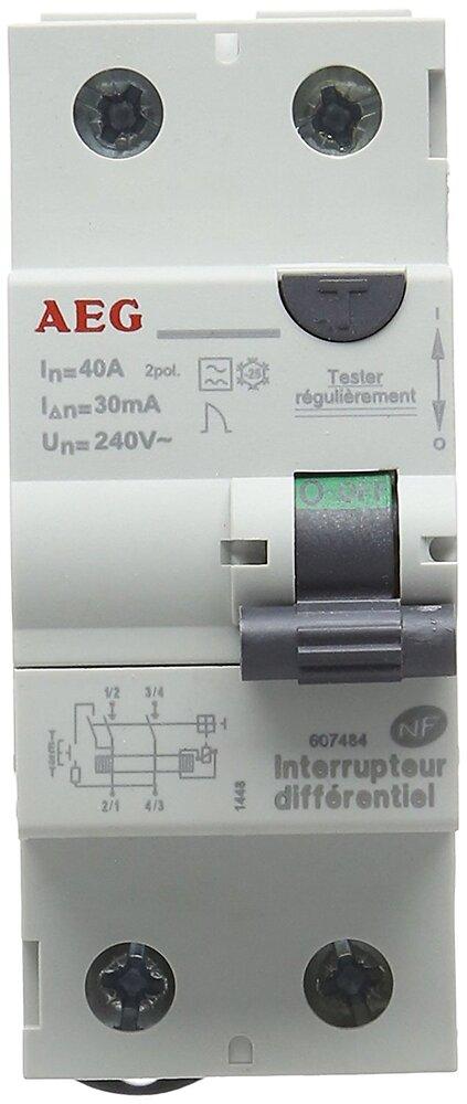 Interrupteur différentiel 40a 30ma type AC