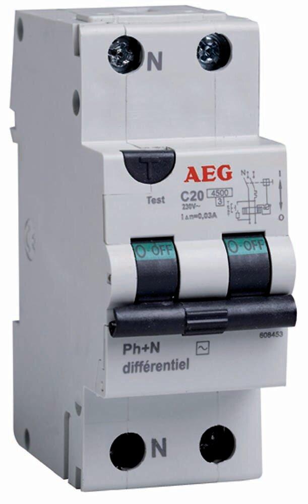 Dijoncteur différentiel 20a 30ma type AC
