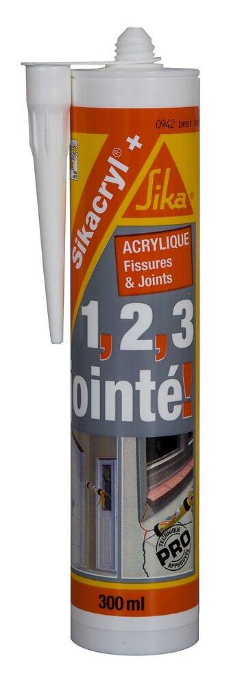 Mastic acrylique Sikacryl+ blanc 300ml