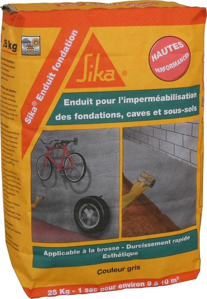 Enduit imperméabilisation fondation gris 25kg