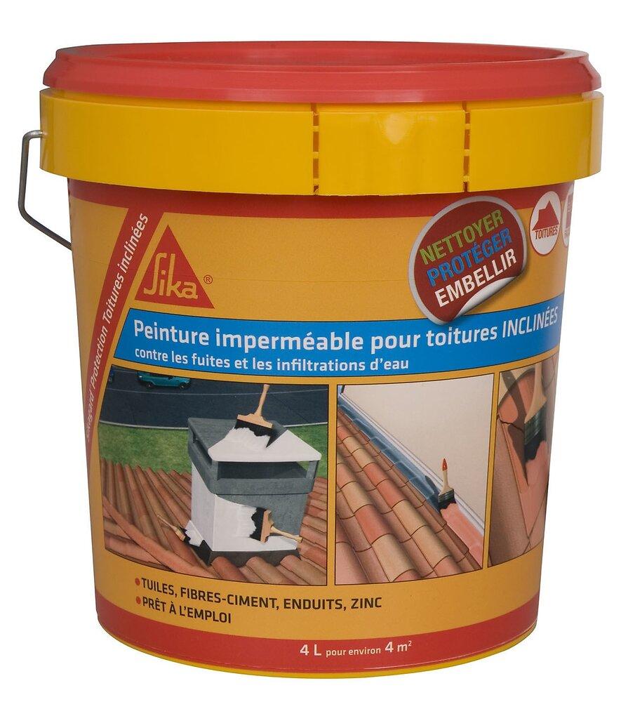 Peinture élastique imperméable pour toiture inclinée blanc 4L