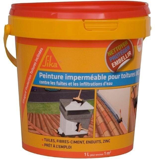 Peinture élastique imperméable pour toiture inclinée 1L
