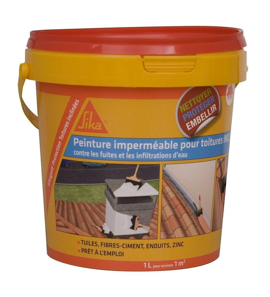 Peinture élastique imperméable pour toiture inclinée blanc 1L