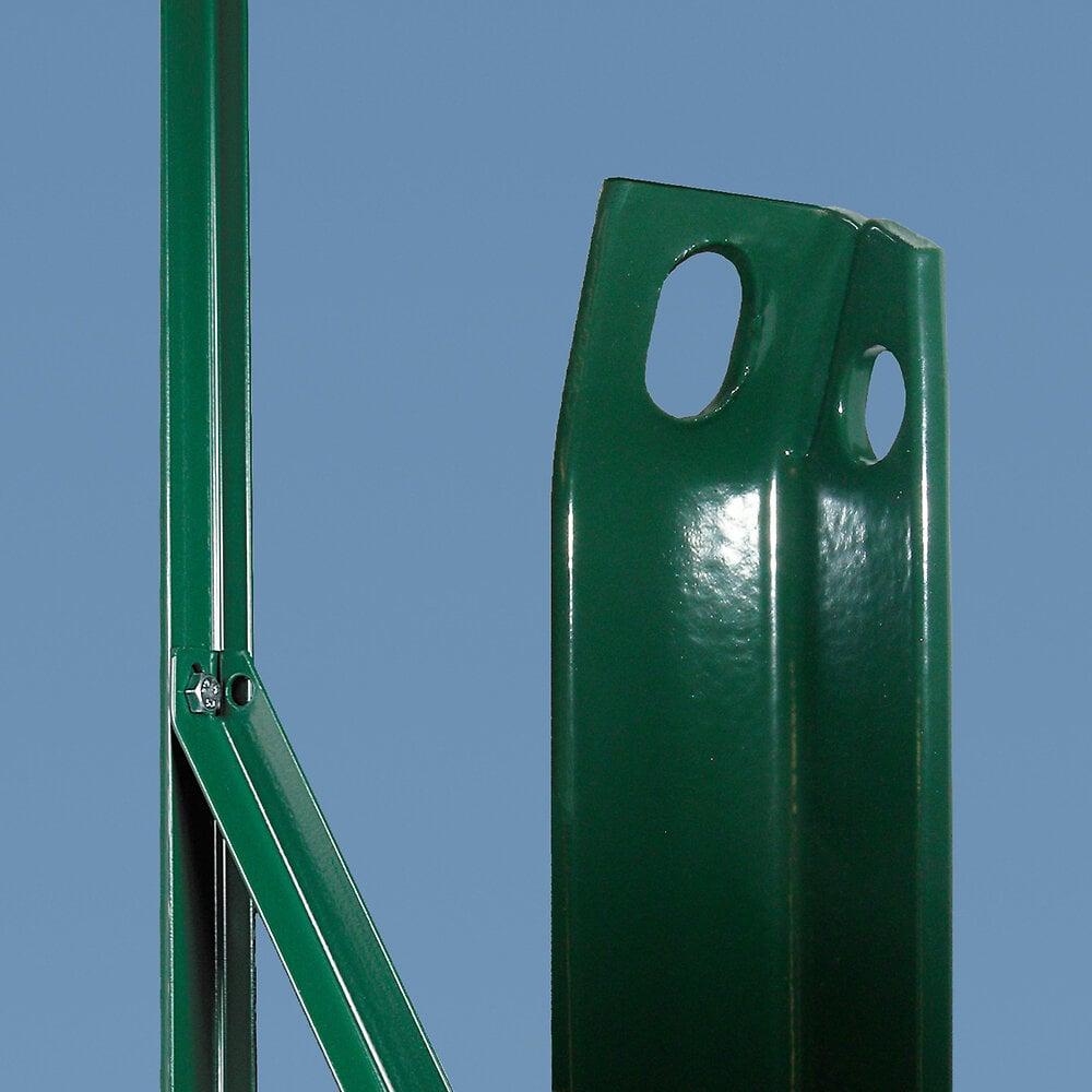 Jambe de force plastifiée vert Hauteur 2.25m