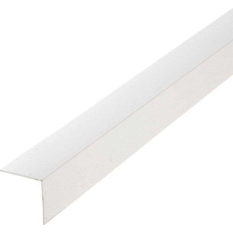 Angle PVC blanc 15x15mm L.2.60m