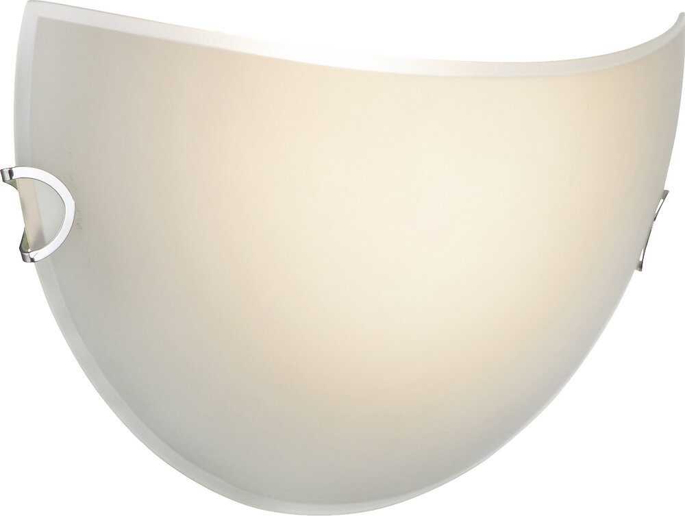 Spot Roman LED nickel mat verre fumé translucide L.28xl.17.2xh.21cm