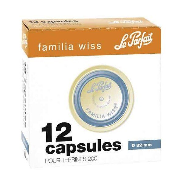 Capsule Famila Wiss diamètre 82mm boite de 12