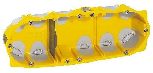 Boîte à encastrer profondeur 40mm pour plaque de plâtre - 3 postes
