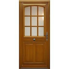 Porte d'entrée en bois exotique 215x90cm