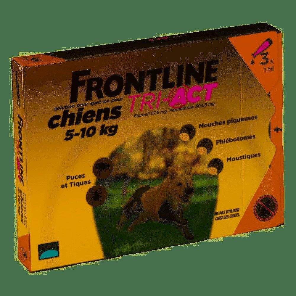 Frontline TRI-ACT 3x1ml pour chien de 5 à 10KG
