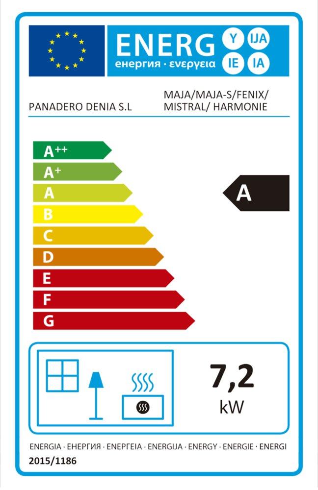 Poele à bois 8 kW PANADERO Maja-s.