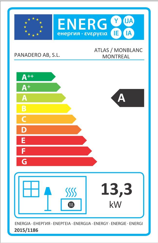 Cheminée métal 14 kW PANADERO Mont Blanc.