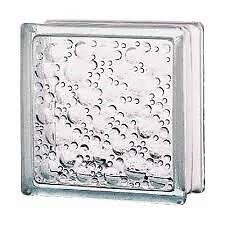 Brique de verre neutre motifs bulles