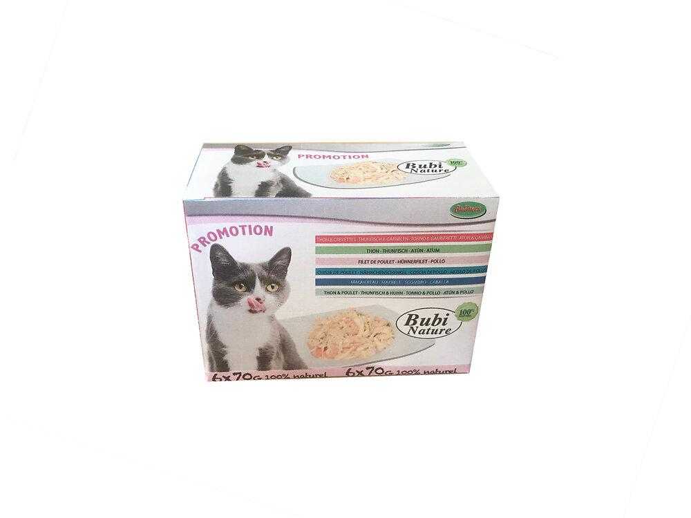 Multipack de patées nature pour chat - 6 x 70G