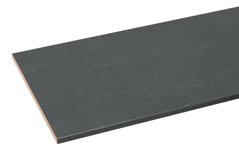 Plan de travail postformé 2470x635x28mm Pierre noire