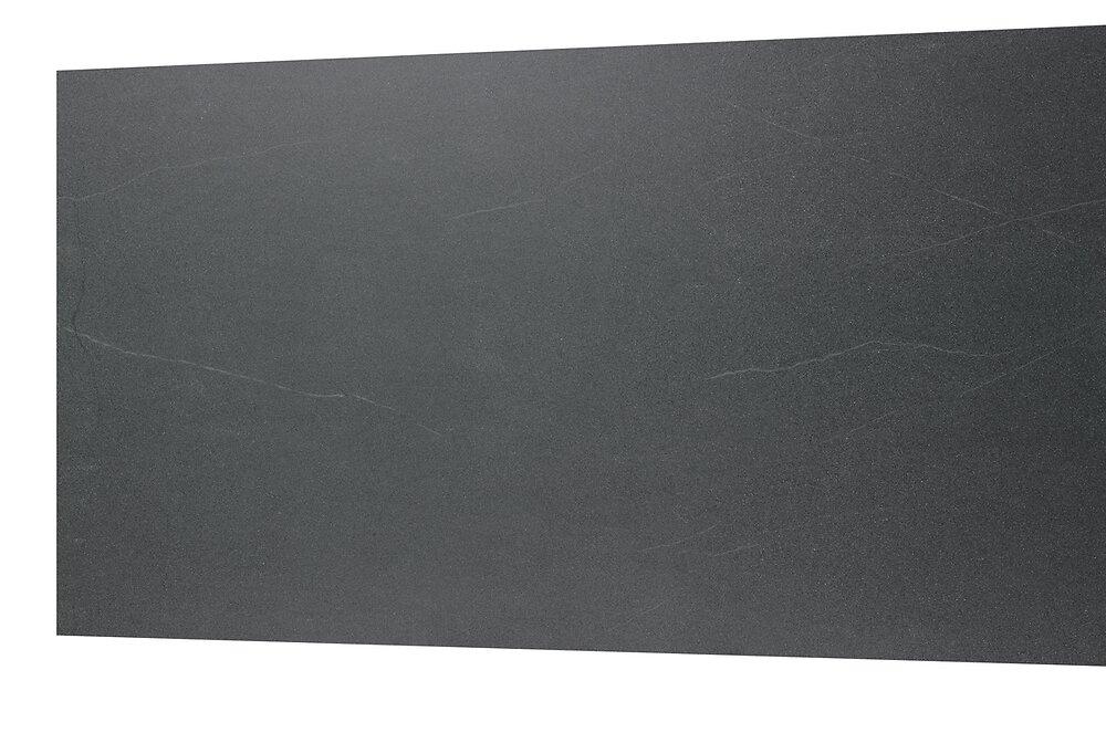 Crédence réversible 3015x600x12mm Noir/Aluminium