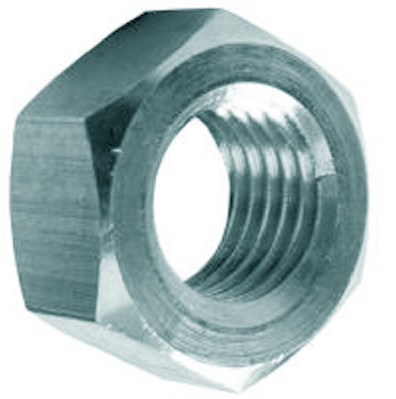 20 écrous hexagonaux acier zingué 7mm