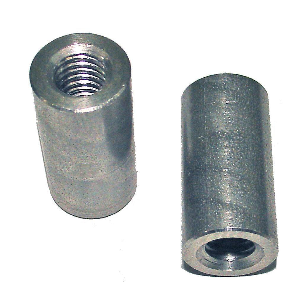 2 manchons de raccordement acier zingué 10mm