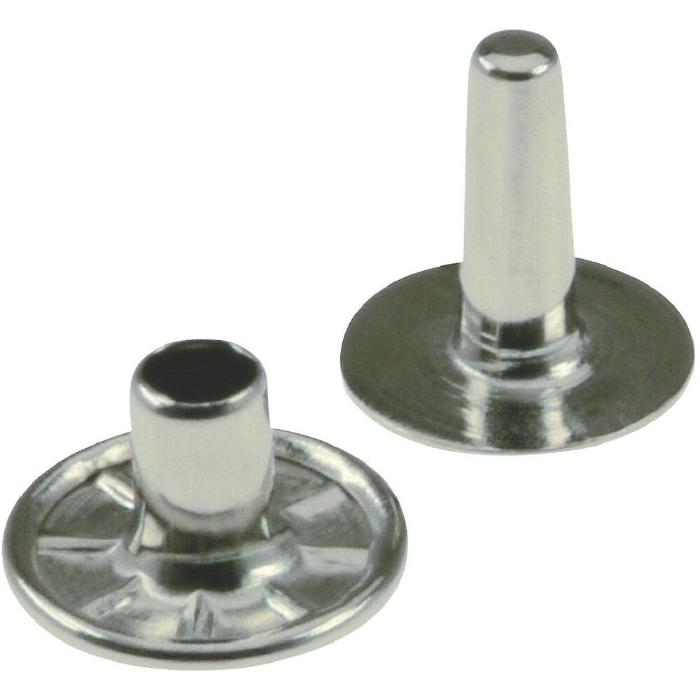 10 rivets tubulaires en nickel 3.2x8.3mm