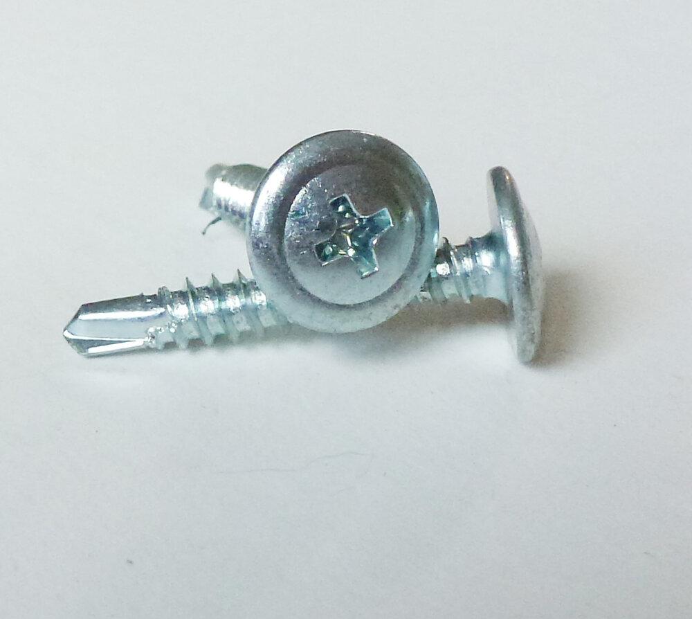 14 vis tôle autoperceuse tête cylindrique bombée 4.8x25mm