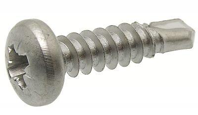 Sachet 6 vis tôle autoperceuse pozidriv inox A2 4.8x25.4mm