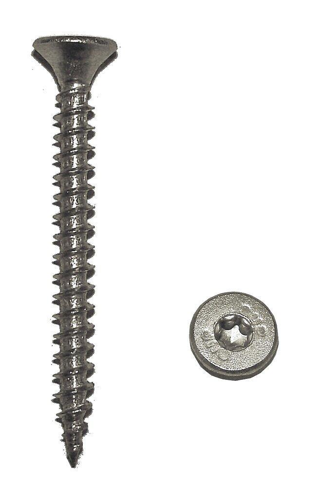 Sachet 20 vis agglo tête fraisée Torx acier bichromaté 5x50 mm FORTFIX