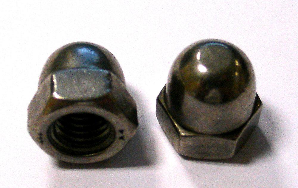 3 écrous borgnes inox A4 6mm