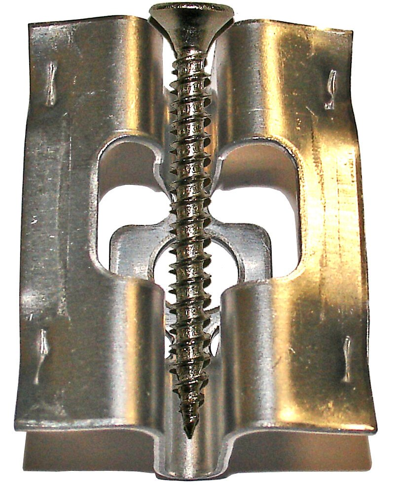 Lot 150 clips terrasse inox A2 3.5x30mm + vis