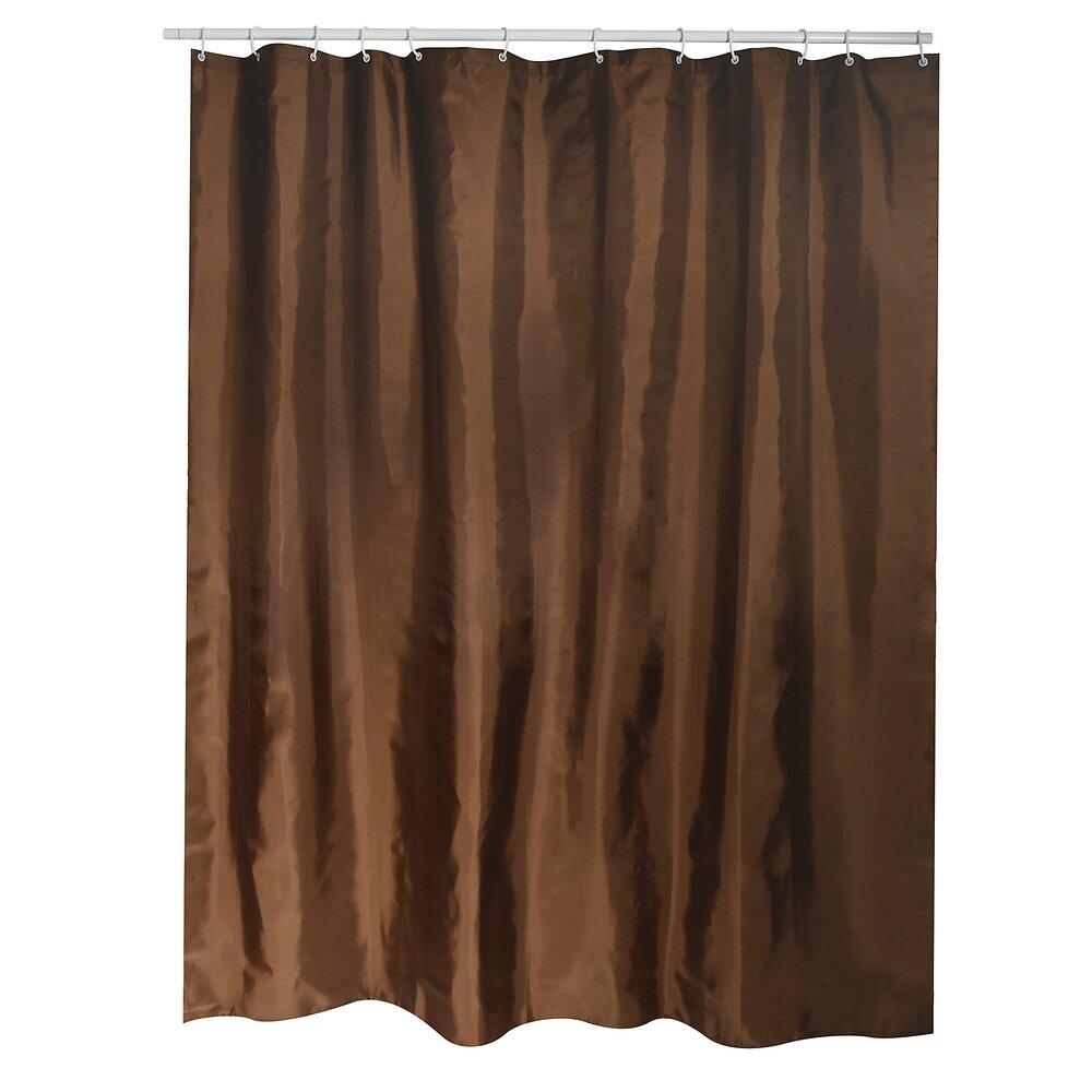 Rideau de douche l.180xh.200cm chocolat, polyester