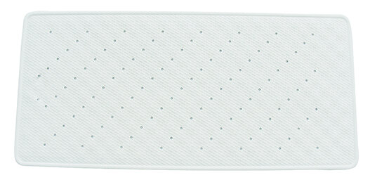 Fond de bain antidérapant Nuage L.75xl.35cm, blanc