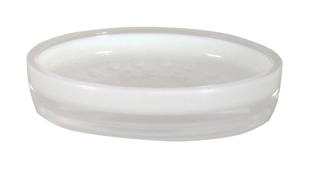 Porte-savon Tahiti blanc, acrylique