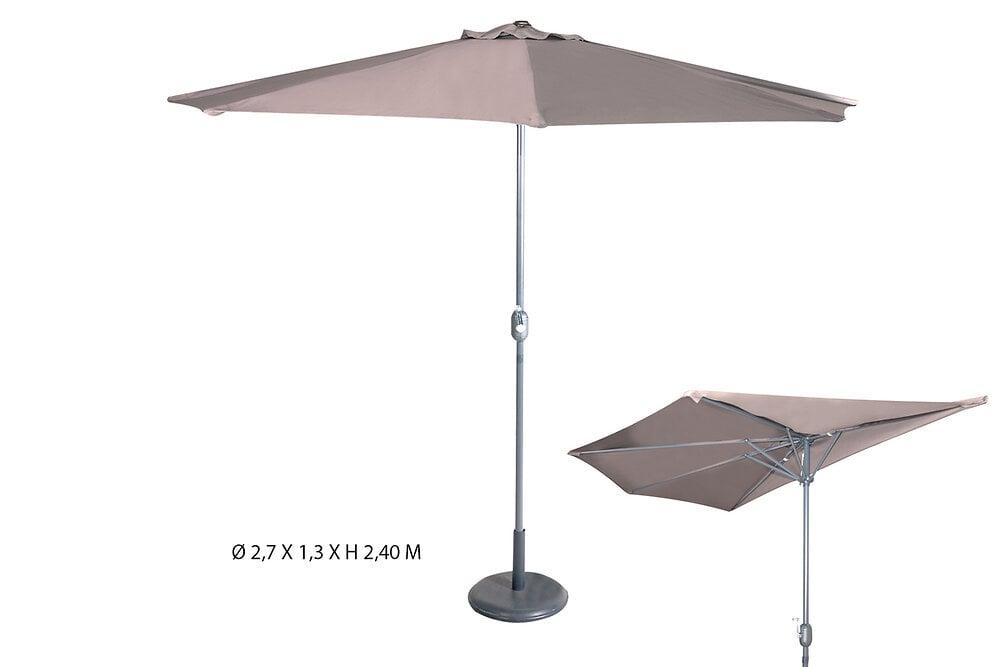 Parasol de balcon 2,7x1,3m taupe