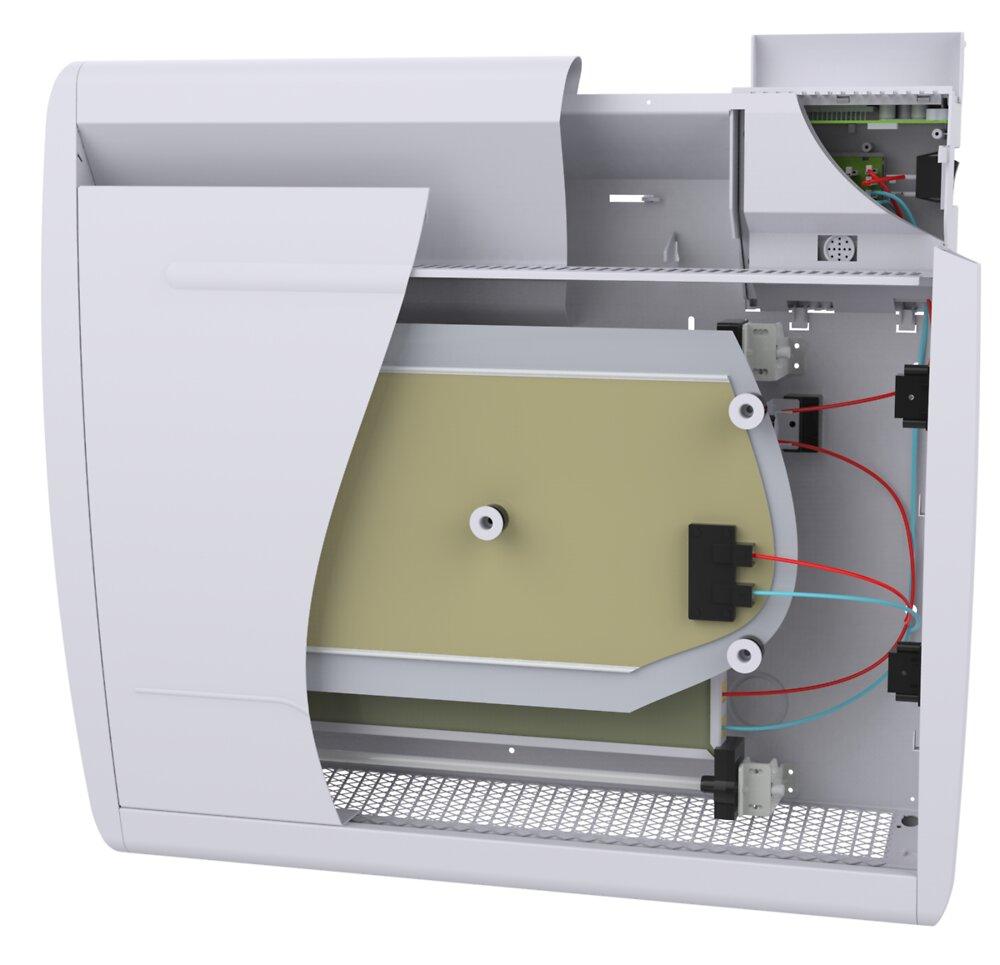 Radiateur à inertie céramique avec résistance surfacique MAZDA 1000W