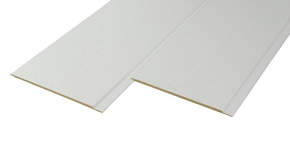 Lambris MDF 0.8x19x260cm blanc noble
