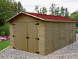 Garage panneau bois massif 16mm 15.60m2