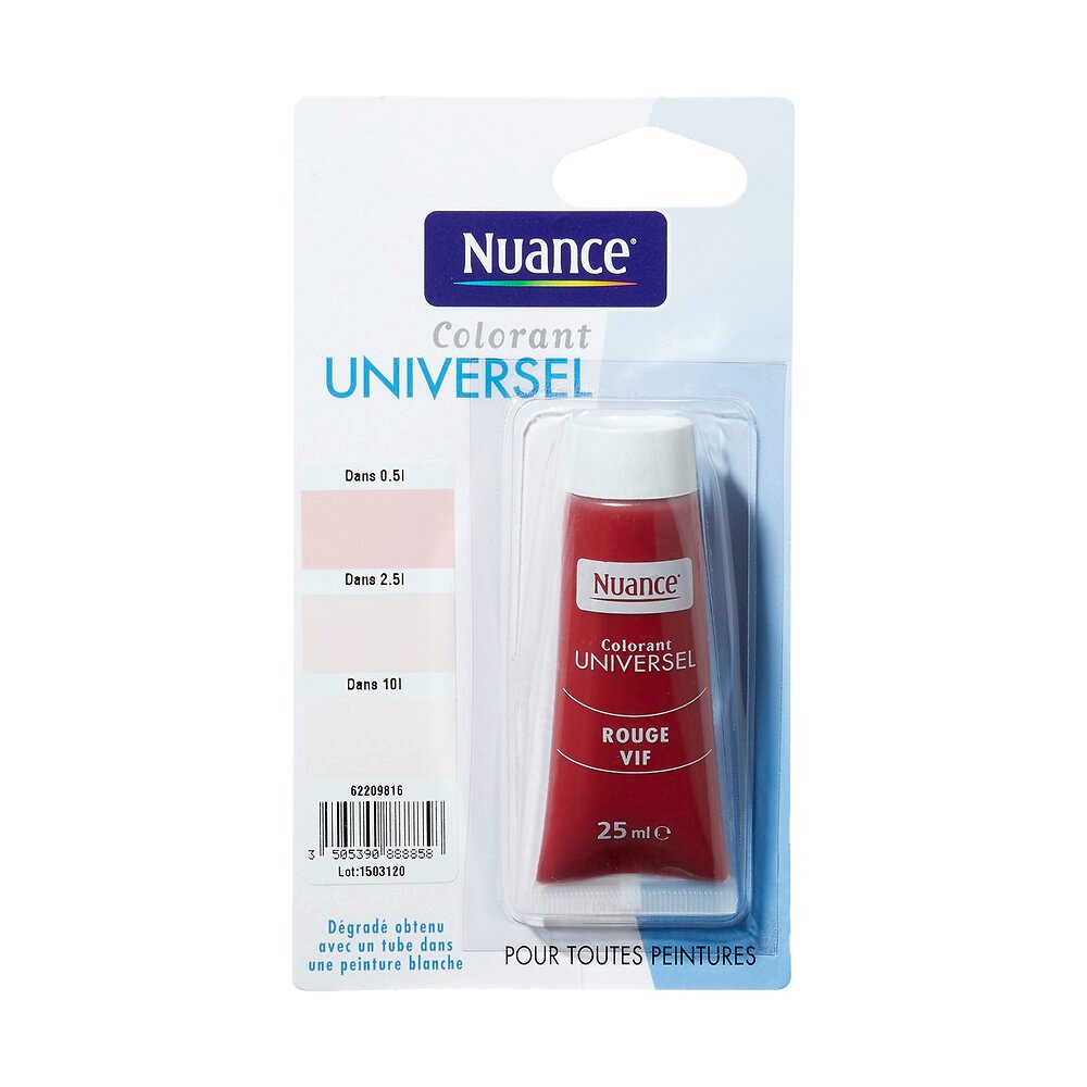 Colorant universel rouge vif 25ml