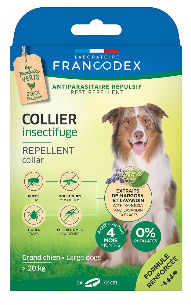 Collier insectifuge grand chien 20-40kg