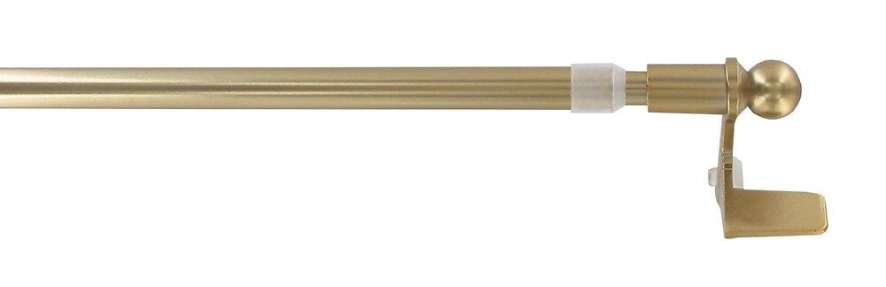 1 Tringle vitrage pose facile extensible 30-50cm doré