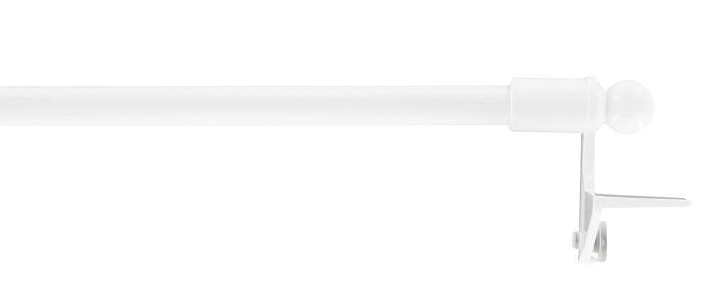 1 Tringle vitrage pose facile extensible 80-110cm blanc
