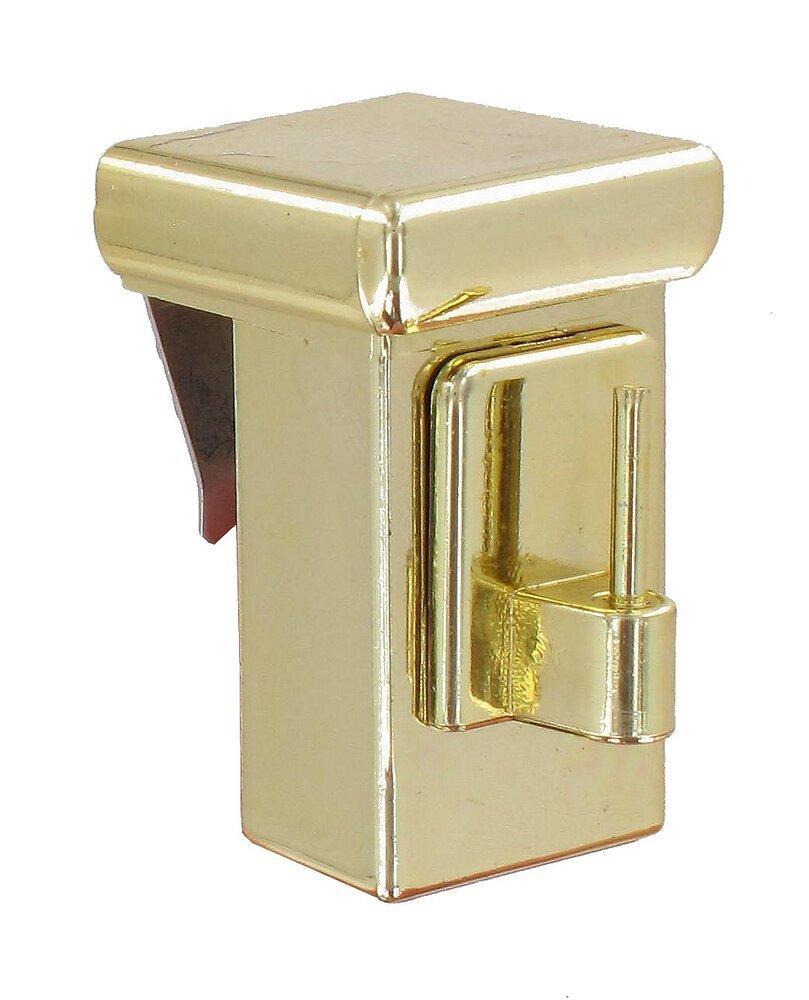 2 Supports Tringle de vitrage - pose par serrage - doré